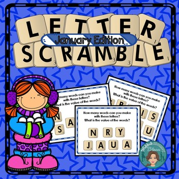 Literacy Centers or Early Finisher Letter Scramble January Edition