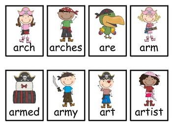 Literacy Centers with /ar/ Words- Word Sort, Games, and Worksheets