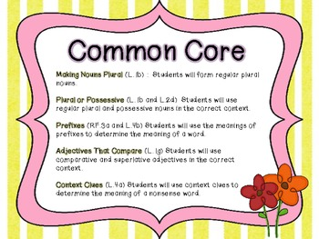 Literacy Centers.....Spring Themed (Common Core Aligned)