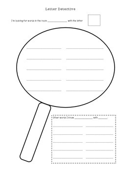 Word Work/ Literacy Centre - Letter Detective