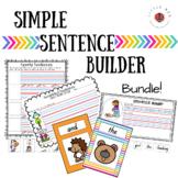 Literacy Centre - Simple Sentence Builder Bundle