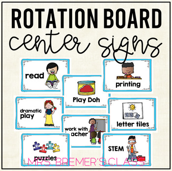 Literacy Center Activity Signs