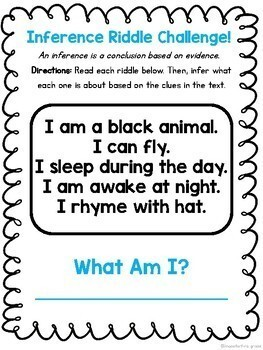Reading and Writing Challenge Worksheets: No Prep