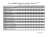 Literacy Checkpoint Checklist for May aligned with TS GOLD