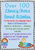 Literacy Choice Board