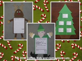 Literacy Christmas Activities - Writing, Spelling, Sorting, Crafts and MORE!