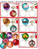 Literacy Circle Activity - Christmas Ornaments Rhyming Words