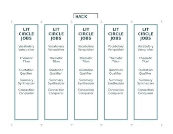 Literacy Circle Bookmarks