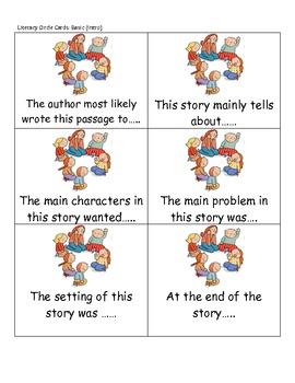 Literacy Circle Cards