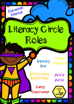 Literacy Circle Roles with descriptions / Anchor Charts / Guided Reading