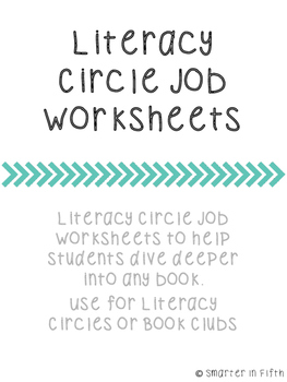 Literacy Circle Job Worksheets