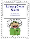 Literacy Circle Sheets