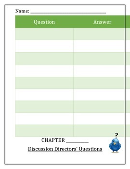 Literacy Circle Student Record Sheet