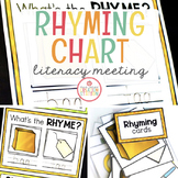 Literacy Circle Time Chart {Rhyming}