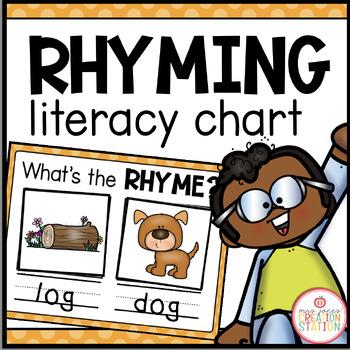 Literacy Circle Time Chart {Rhyming}