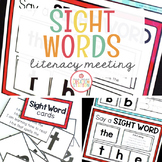MORNING MEETING LITERACY CIRCLE TIME CHART (SIGHT WORDS)