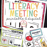MORNING MEETING LITERACY CIRCLE TIME CHARTS (BUNDLE)