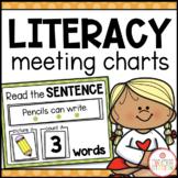 LITERACY MORNING MEETING CIRCLE TIME CHARTS BUNDLE