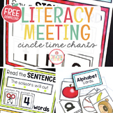 MORNING MEETING LITERACY CIRCLE TIME CHART (FREE SAMPLE PACK)