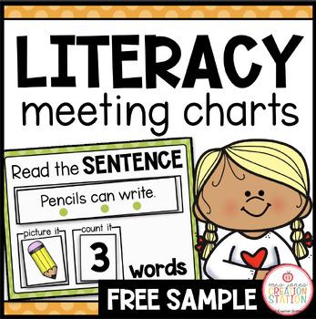 MORNING MEETING LITERACY CIRCLE TIME CHART (FREE SAMPLE PACK)