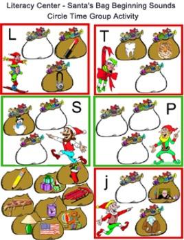 Literacy Circle Time - Santa's Bag Beginning Sounds