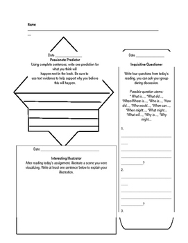 Literacy Circle Worksheet