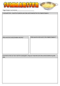 Literacy Circle worksheets