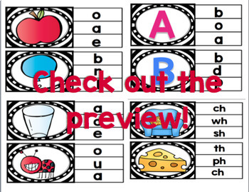 Literacy Clip Card Bundle {Over 130 clip cards}
