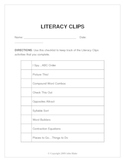 Literacy Clips: Learning on the Move