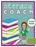 Literacy Coach Essential Documents {EDITABLE}