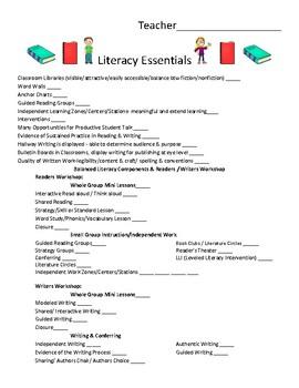 Literacy Coach - Literacy Essentials Walk-Through