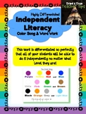 Literacy Color Song and Word Work