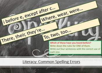Literacy - Common Spelling Errors