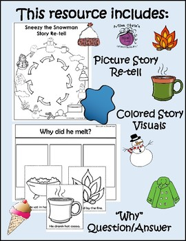 Literacy Companion for Sneezy the Snowman *FUN ACTIVITIES*