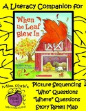 """Literacy Companion for """"When The Leaf Blew In"""" Vocab - WH?"""