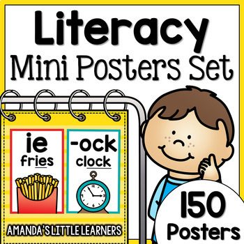Literacy Concepts Mini Posters or Flashcards