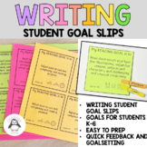 Literacy Continuum Writing Goal Slips - Clusters 1-12