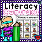 Literacy Menus Freebie   Literacy Contracts   Literacy Choice Activity Board