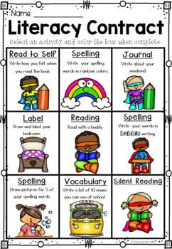 Literacy Choice Boards