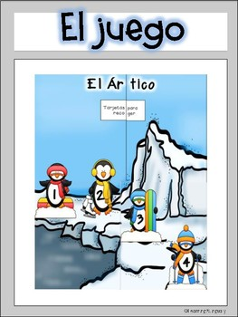 Literacy Counting Syllables Game in Spanish- Penguin Theme