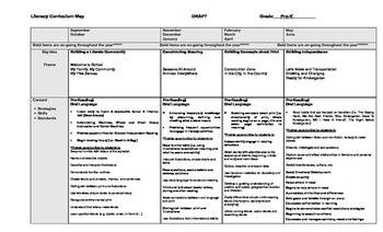 Literacy Curriculum Map - Example