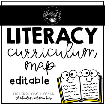 Curriculum map editable teaching resources teachers pay teachers literacy curriculum map editable literacy curriculum map editable fandeluxe Images