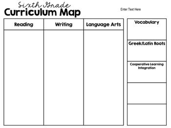 Literacy Curriculum Map (editable)