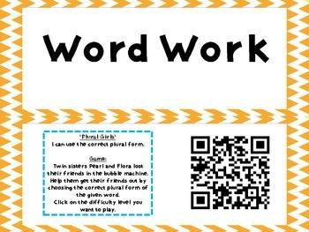 Literacy Daily 5 QR Codes