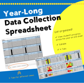 Year-Long Literacy Data Collection Tool - Great for Reading Specialists RtI/AIS