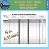Literacy Database Consolidation Spreadsheet