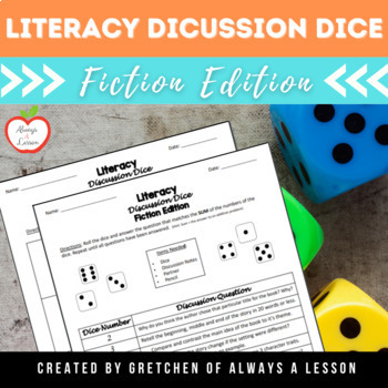 Literacy Discussion Dice Activity- Fiction Edition
