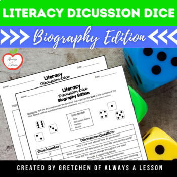 Literacy Discussion Dice Activity- Biography Edition