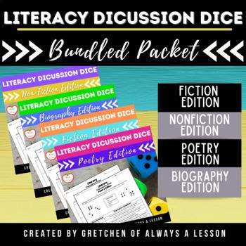 Literacy Discussion Dice Activity- Multi-Genre BUNDLE