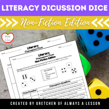 Literacy Discussion Dice Activity- Non-Fiction Edition